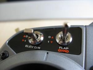 Positionsmodus - Schalter auf Gyro gestellt